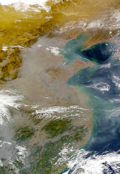 Grey Haze over China